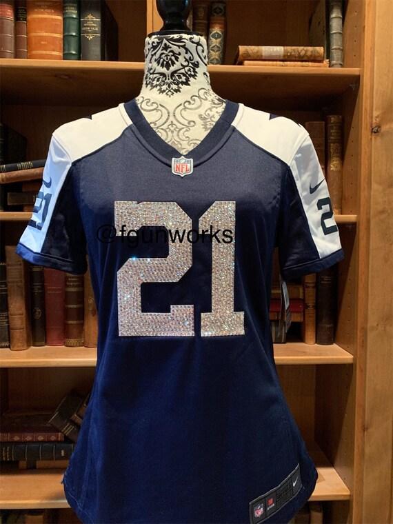 timeless design 922b1 1ec33 Swarovski covered Ezekiel Elliott throwback womens Small jersey Ready to  ship