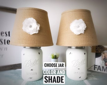 Mason Jar Lamps, Bedroom Lamps In Pairs, Bedroom Lamp Sets, Bedroom Lamp, Bedroom Lights, Bedroom Lighting, Bedroom Light Decor, Table Lamps