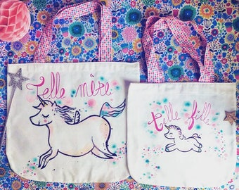 Such cotton mother, like daughter Unicorn tote bag
