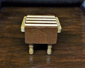 Miniature Wooden Butcher Block