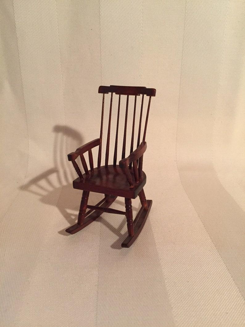 Bon Miniature High End, Handmade Mahogany Rocking Chair