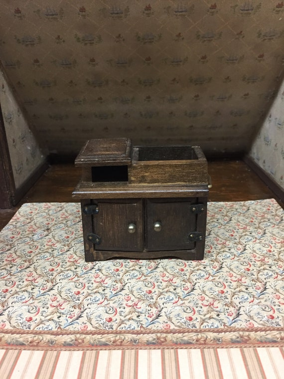 Miniature Rustic Wooden Farm Style Kitchen Sink