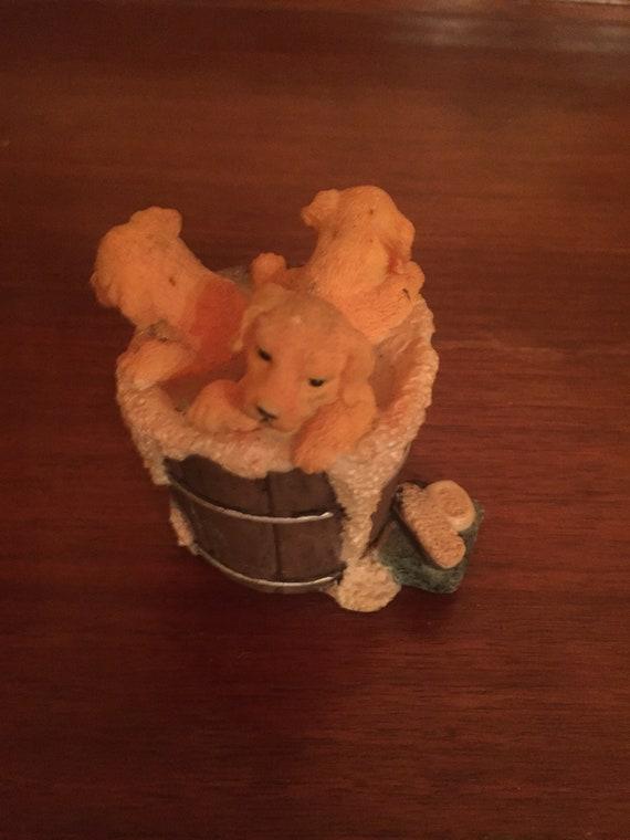 Miniature Golden Retriever Puppies in a Bath Bucket | Etsy