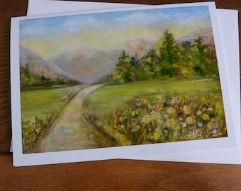 Greeting Card, Mountains, Blank Notecard