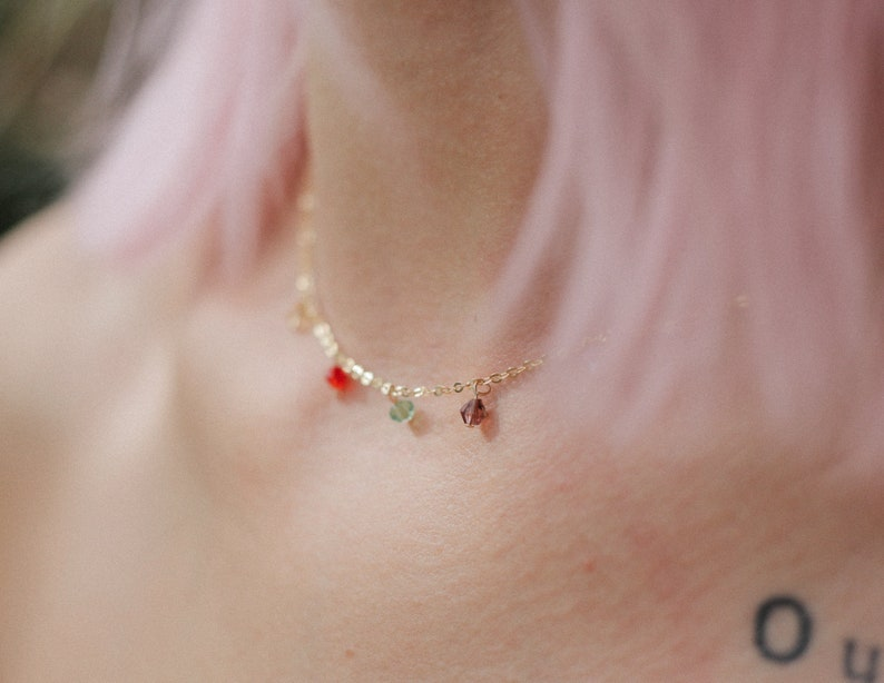 beads necklace beaded necklace summer necklace Gold filled 14k necklace boho necklace Minimalist jewelry