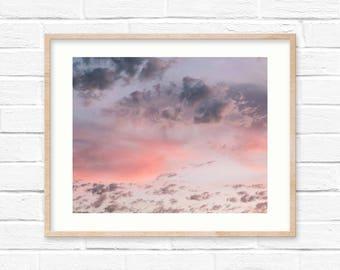 Cloud Print Sunset