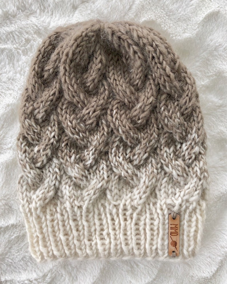 20a946a76277 Cable Knit beanie/Ready to ship Braided cable/knit beanie/ | Etsy