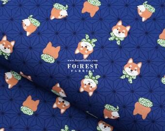 shiba inu Japanese style Dogs fabric Pink 50cm cotton