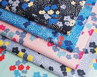 Echino - cotton linen - Floret Japanese Fabric - 50cm