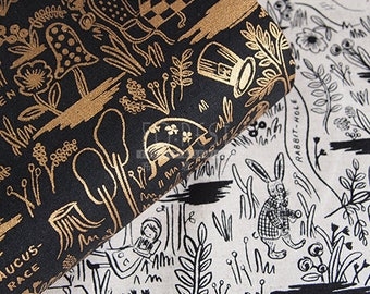 C+S Linen Canvas MAGIC FOREST fabric - 50cm