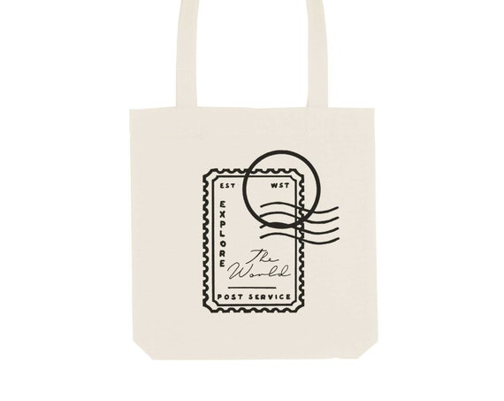 Tote Bag Stamp / Organic Cotton / Organic Ink / Designed in France / Original Gift Idea / History and Insect / Beach Bag