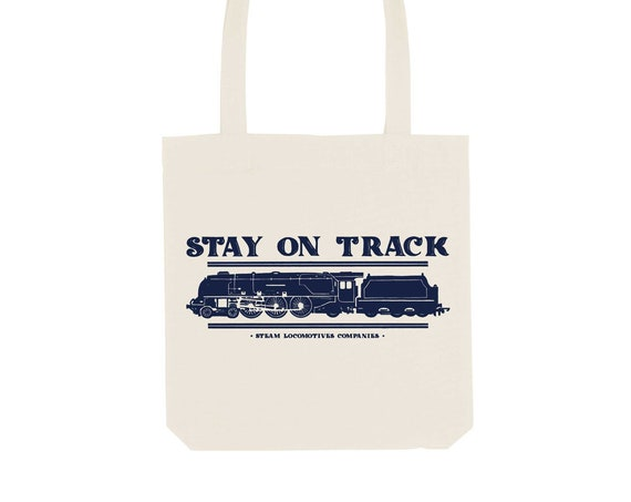 Tote Bag Locomotive / Organic Cotton / Organic Ink / Designed in France / Original Gift Idea / History and Insect / Beach Bag