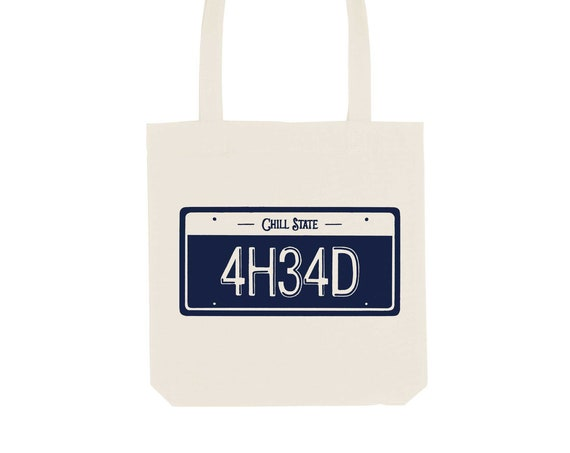 Tote Bag Numberplate / Organic Cotton / Organic Ink / Designed in France / Original Gift Idea / History and Insect / Beach Bag