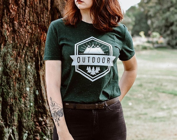 T-shirt Outdoor / organic / organic ink / made in France / Original gift idea / landscape and travel
