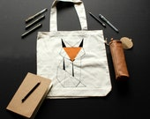 Tote Bag Fox / / recycled...