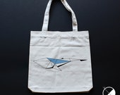 Whale Tote Bag / / recycl...
