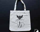 Cat Tote Bag / / recycled...