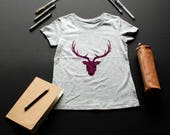 Blue deer T-shirt / Burgu...