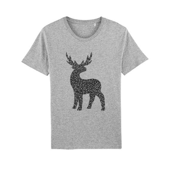 T-shirt Cerf Végétal
