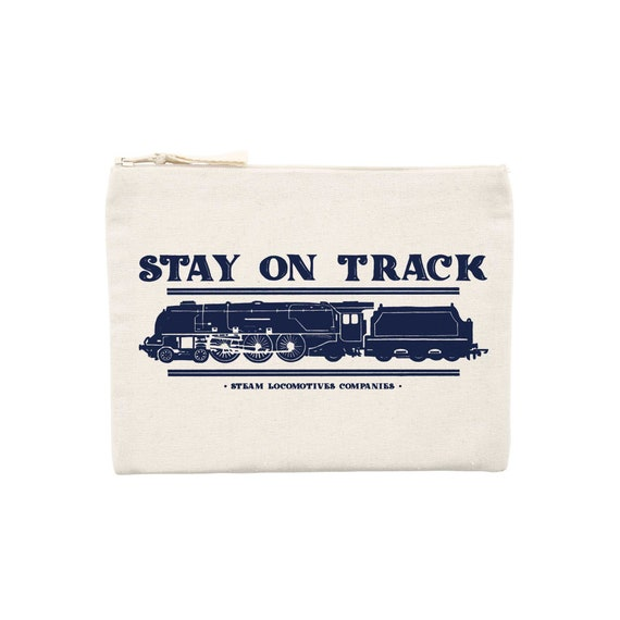 Locomotive Pocket / organic / organic ink / made in France / Original gift idea / Train and travel