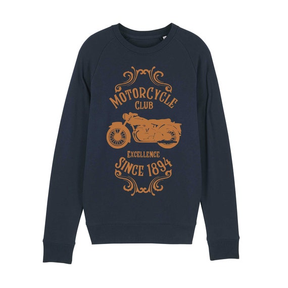 Motorcycle Sweatshirt / organic / organic ink / made in France / Original gift idea / motorcycle and Vintage