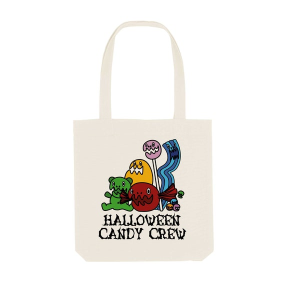 Tote Bag Candy Crew / Organic Cotton / Organic Ink / Designed in France / Original Gift Idea / Candy and Sugar / Beach Bag