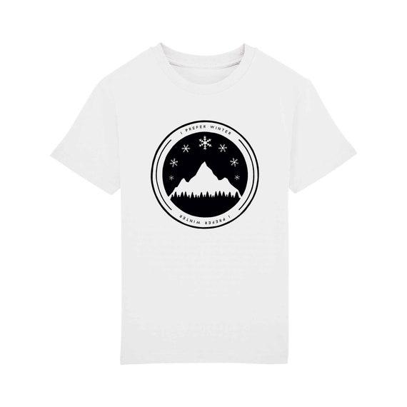 T-shirt I Prefer Winter Enfant