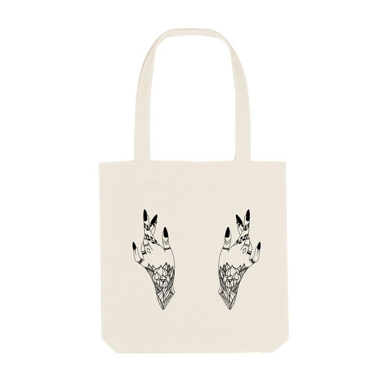 372b8f8153b5 Tote Bag Hand / Organic Cotton / Organic Ink / Designed in France /  Original Gift Idea / Women and Tattoo / Beach Bag