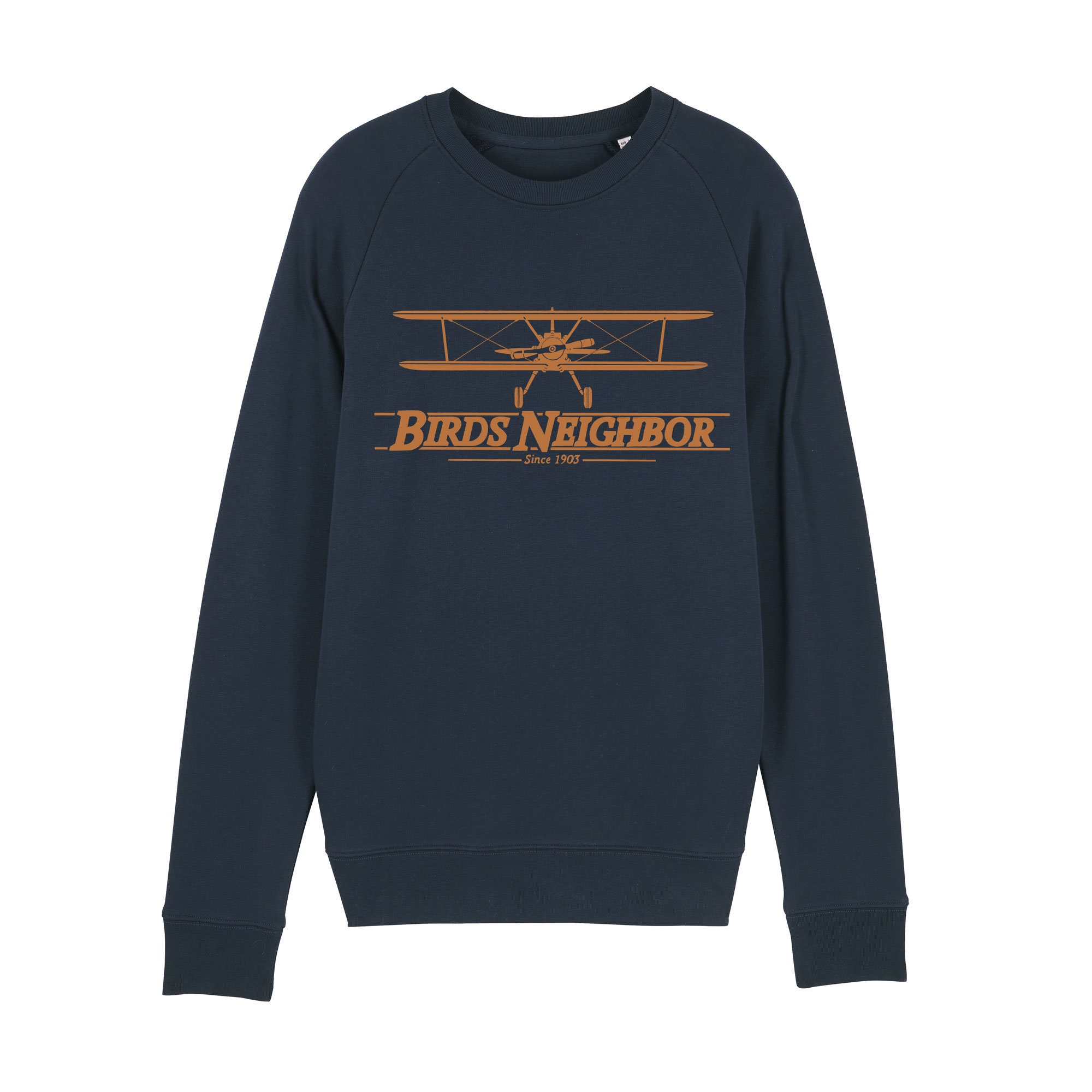 Airplane Oldschool Sweatshirt / organic / organic ink / made