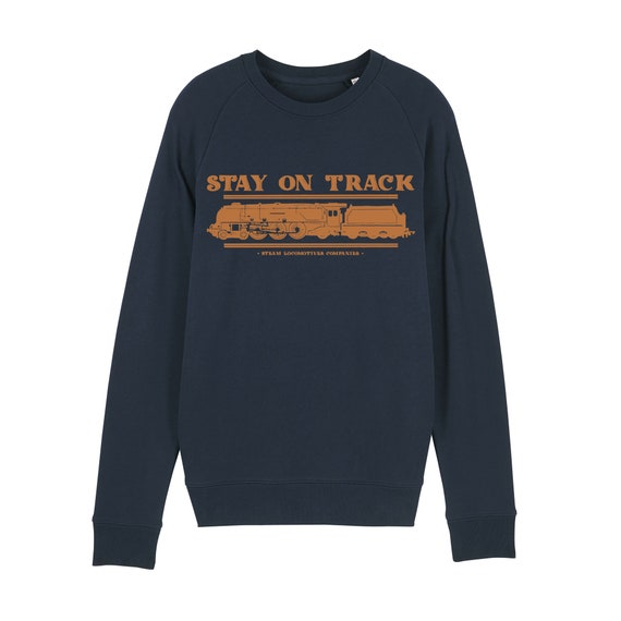 Locomotive Sweatshirt / organic / organic ink / made in France / Original gift idea / Train and travel
