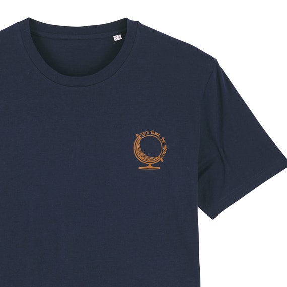 Globe Trotter T-shirt / organic / organic ink / made in France / Original gift idea / planet and Voyage