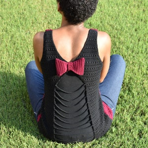 Mommy and Me Tank Top Peek-A-Bow Tank Top Crochet Pattern