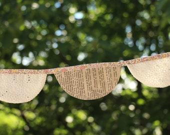 Guirlande style vintage en papier et tissus, banderole, party, fête, anniversaire, garland, birthday, été, summer, celebration
