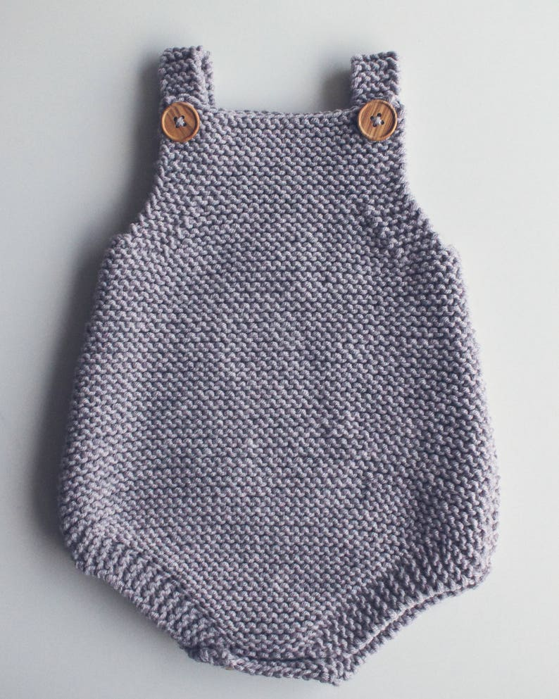 35c4c0280679 Baby All-In-One Knitting Pattern Eve Romper PDF Knitting