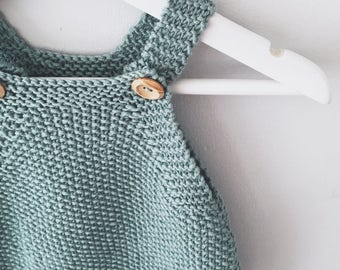 Baby Romper Knitting Pattern - Mio Knitted Playsuit PDF Knitting Pattern - Instant Download