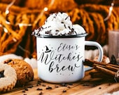 Halloween Mug Witches Brew Autumn Mug Fall Mug Camping Mug Autumn Camp Mug Campfire Mug Fall Coffee Mug Halloween Gift // 4 STYLES