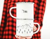 Campfire Mug Mug Custom Camp Mug Mountain Mug // ONE Mug