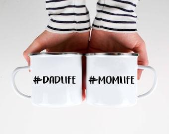Mothers Day Gift Momlife Mug #Momlife  Mom Life Dad Life Camp Mug Camping Mug Campfire Mug Enamel Mug Dad Mug Dad Gift Mom Gift