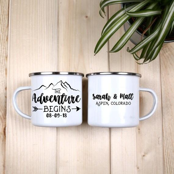 Wedding Favors Camp Mugs Mountain Wedding Camping Mug | Etsy