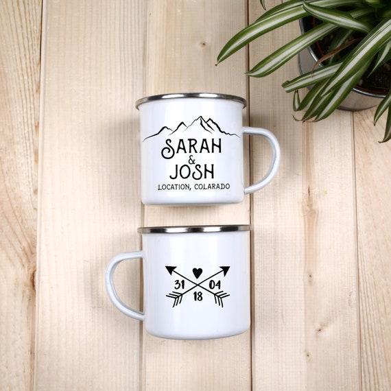 Mountain Wedding Camping Mug Personalized Wedding Favors | Etsy