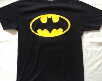 Batam Logo T-Shirt | Batman Merchandise | Medium Black