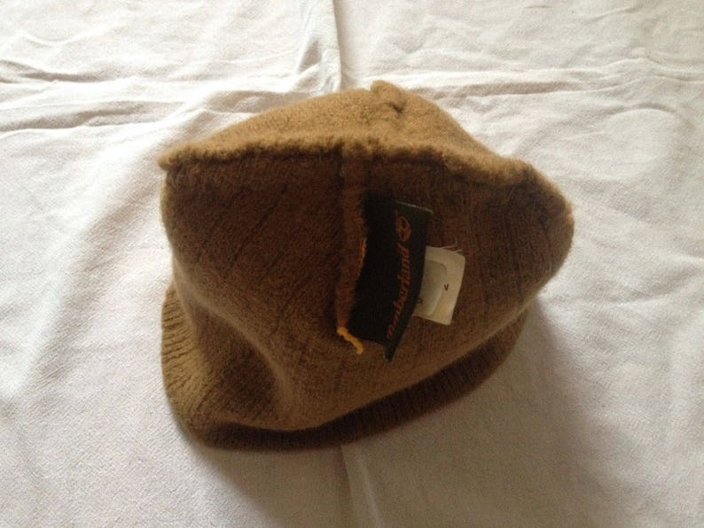 a3736464 Timberland 100% Wool Made Beanie Hat Cap One Size Light Brown   Etsy