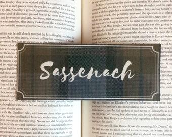 Outlander Sassenach Tartan Quote Bookmark