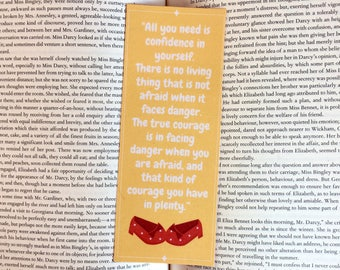Wizard of Oz Courage Quote Bookmark