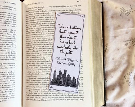 Le Grand Gatsby Le Magnifique Citation Marque Page