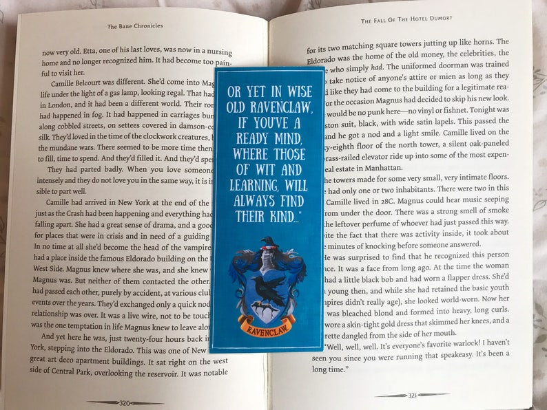 Harry Potter Ravenclaw Quote Bookmark image 0