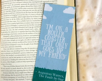 The Fault in Our Stars John Green Quote Bookmark