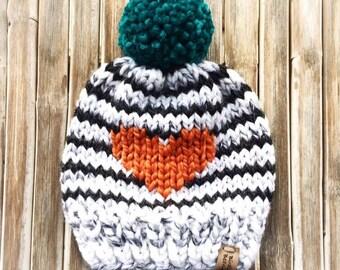 04fa42586a8 Bonnet - Bonnet enfant - Bonnet bébé - Bonnet à pompon - Bonnet rayé -  Bonnet ski - Tricoté à la main - Bonnet adulte
