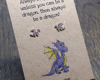 Dragon earrings - 925 sterling silver dragon studs - Mother of dragons - sterling silver earrings