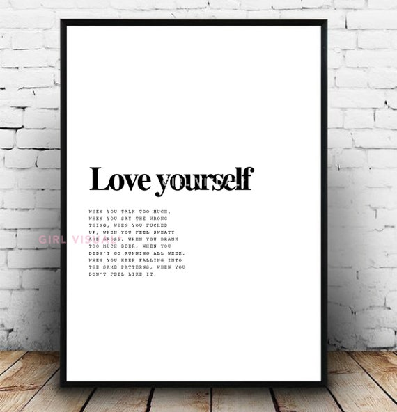 you love yourself too much